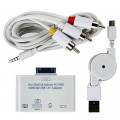 Adaptateur HDMI, USB, AV pour iPad, iPhone 4, iPhone 4S, iPod Touch 4